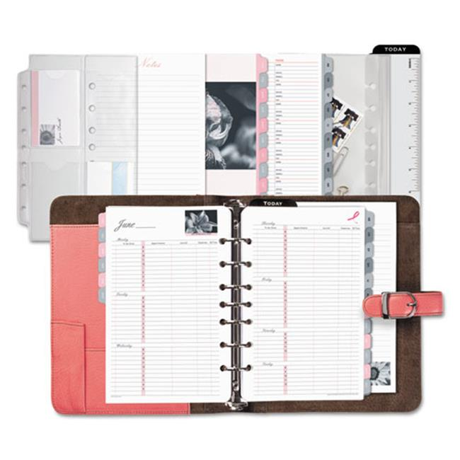 Acco & Day-Timers 48434 Pink Ribbon Loose-Leaf Organizer Starter Set