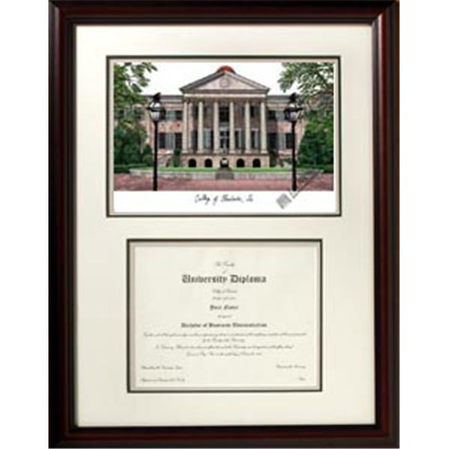 Campus Images SC998V College of Charleston ''Scholar'' Lithograph and Diploma Frame