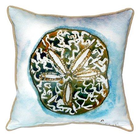 Betsy Drake Interiors Coastal Sand Dollar Indoor/Outdoor Throw Pillow