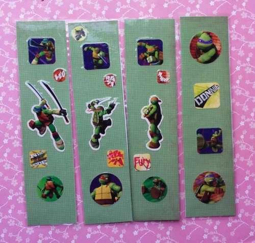 """Lot of 4 Cute Handmade TMNT Teenage Mutant Ninja Turtles Green Bookmarks 6"""""""