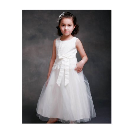 Efavormart Dazzling Lace and Mesh Flower Girl Dress Birthday Girl Dress Junior Flower Girl Wedding Party Gown Girls Dress - Party Dresses Girls