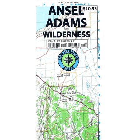 - Ansel Adams Wilderness Trail Map : Shaded-Relief Topo Map