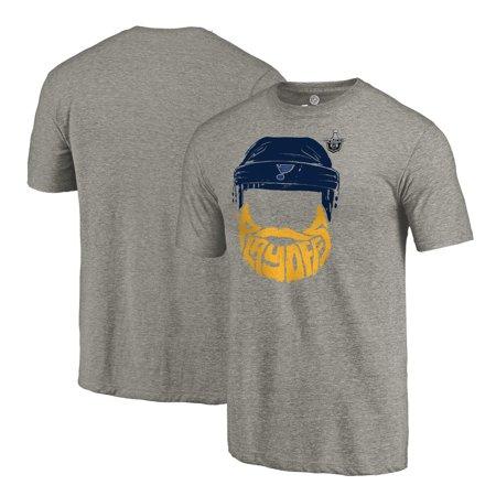 b445f6ff441 St. Louis Blues Fanatics Branded 2017 NHL Stanley Cup Playoff Participant  Full Beard Big   Tall T-Shirt - Heather Gray - Walmart.com