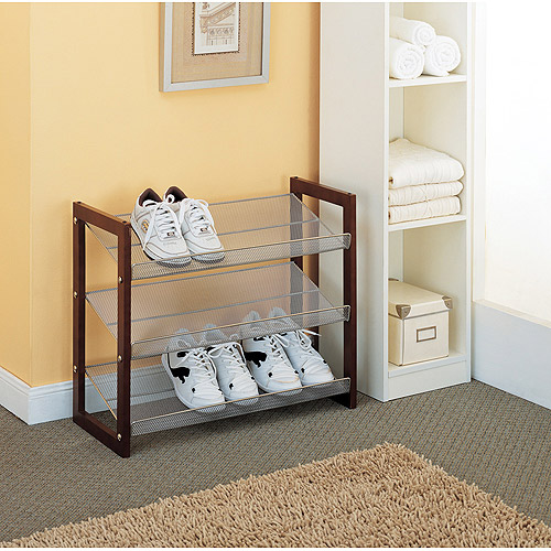 Stackable Mesh Shoe Rack, 3 Tier