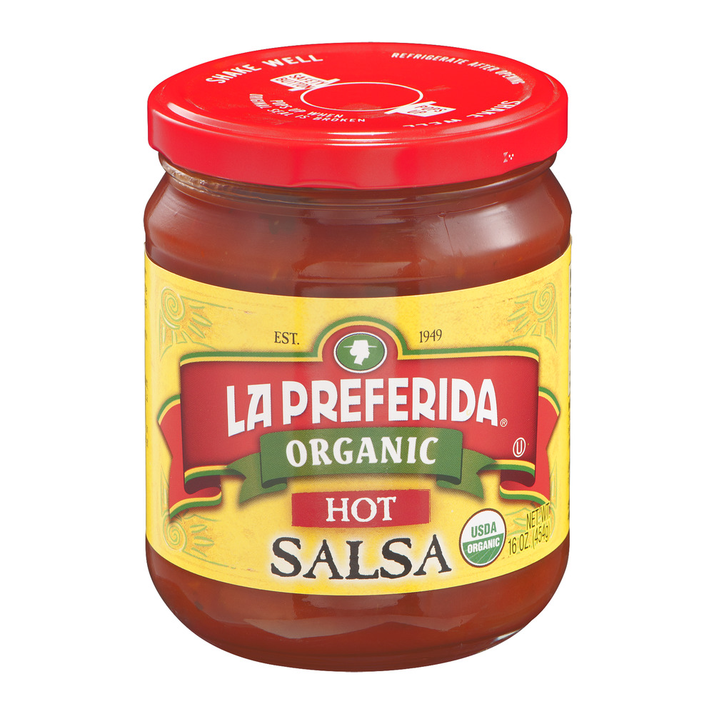 La Preferida Organic Salsa Hot, 16.0 OZ