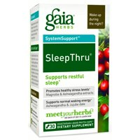 Gaia Herbs Sleep Thru Vegetarian Liquid Phyto-Caps, 30 Ct