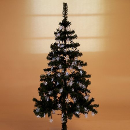 Weanas Solar Power Fairy String Lights 60 Leds Snowflake Style White 36 Feet 11M Solar Energy For Indoor Outdoor Home Garden Christmas Wedding Decoration