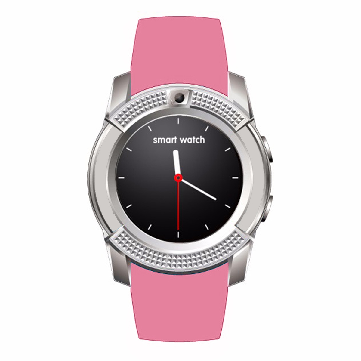 Pink Smart Fitness Watch V8 iOS Android US 3.0Bluetooth for SIM GSM Card Pedometer