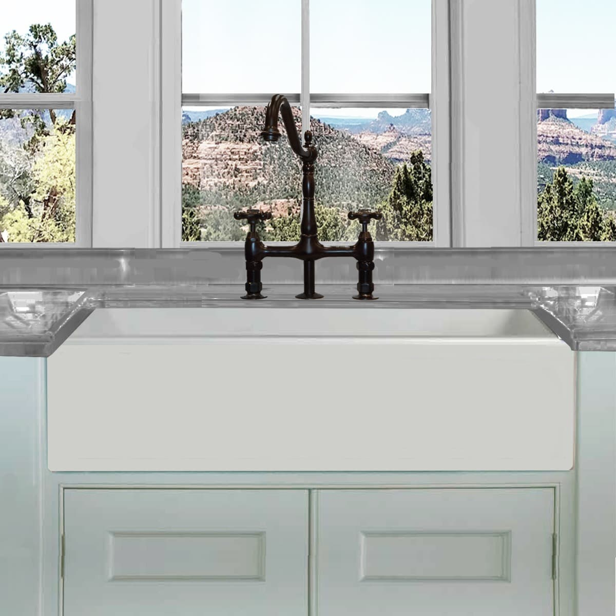 highpoint collection white 36 inch single bowl rectangle fireclay farmhouse kitchen sink highpoint collection white 36 inch single bowl rectangle fireclay      rh   walmart com