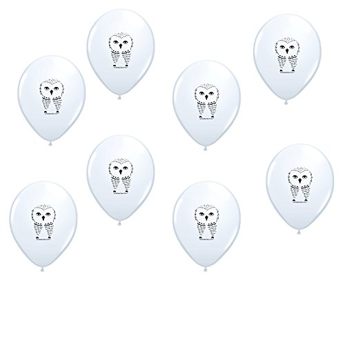 Harry Potter theme White Owl Latex Balloons 8 Count Made in USA