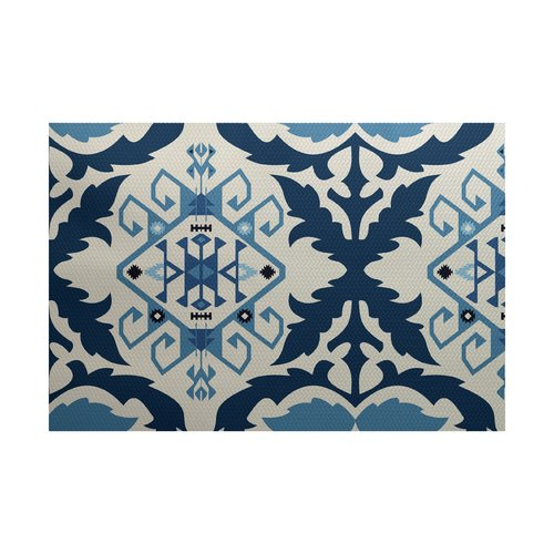 Bungalow Rose Soluri Navy Blue Indoor/Outdoor Area Rug