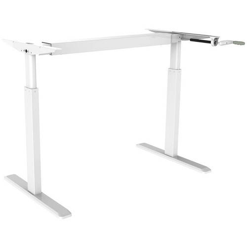 proht adjustable stand up steel desk frame system white - Adjustable Stand Up Desk