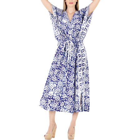 HAPPY BAY - Womens Batik Caftan Summer Plus Size Cotton ...