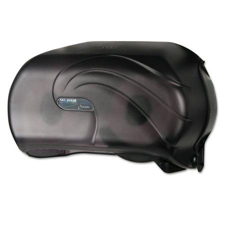 - San Jamar VersaTwin Standard Tissue Dispenser, 2 Roll, 12-1/4 x 5-3/4 x 8-1/4, Black Pearl -SJMR3690TBK