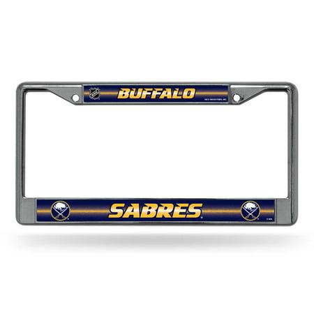 Buffalo Sabres Laser Etched Chrome License Plate Frame (Glitter) ()