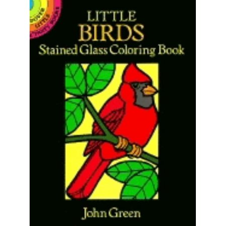 Little Birds Stained Glass Coloring Book Audubon Birds Stained Glass
