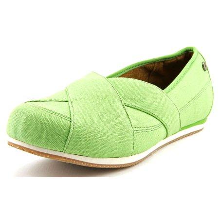 MOZO Sport Flat Women  Round Toe Canvas Green Flats - Green Flats