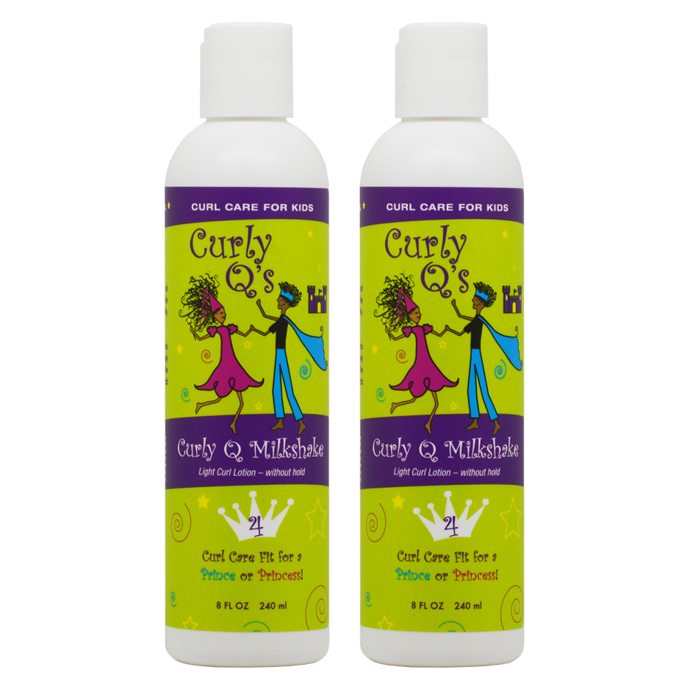 "Curly Q's Curly Q Milkshake Light Curl Lotion 8oz ""Pack of 2"""