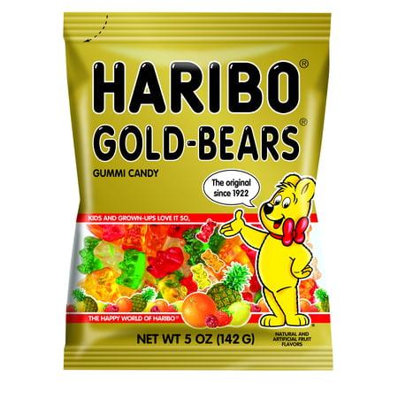 Haribo Gummi Candy, Gummi Bears, Original Assortment, 5oz Bag, 12/Carton -HRB30220