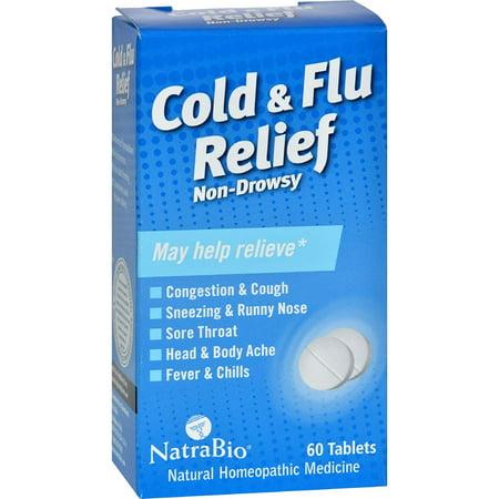 Natra Bio Cold & Flu Relief 60 Tab, 0737494 By NatraBio,USA