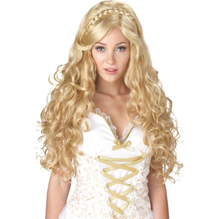 Blonde Mythic Goddess Wig Adult Halloween - Blonde Wig With Bangs