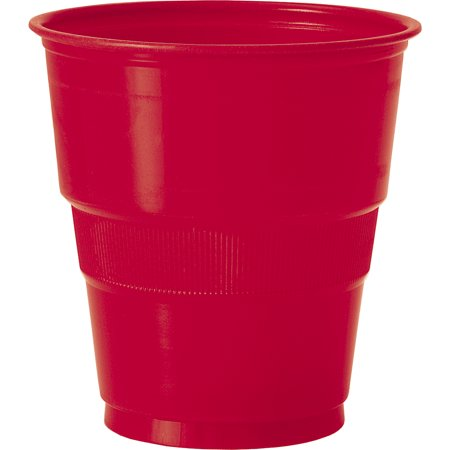 467744d43cfe4 Team Spirit Solid Football Super Bowl Party 9oz Plastic Cups, Red, 12 Pack  - Walmart.com
