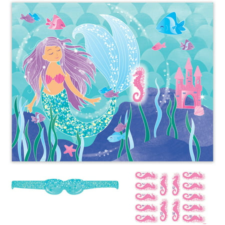 Mermaid Party Game, 14 Players, 16pcs - Mermaids Party Supplies