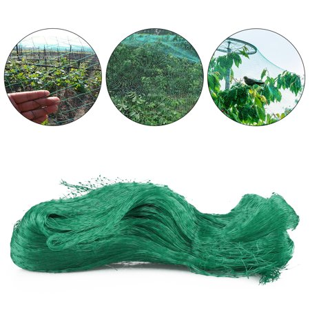 Green Anti Bird Protection Net Mesh Garden Plant Netting Protect Plants Fruit Trees from Rodents Birds Deer Poultry Best for Seedling,Vegetables,Flowers,Fruit,Bushes,Reusable Fencing