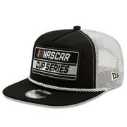 NASCAR New Era Golfer Snapback Adjustable Hat - Black/White - OSFA