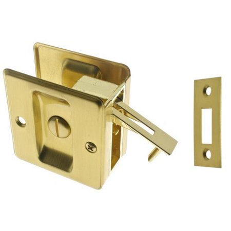 Solid Brass Pocket Privacy Pull, Satin Brass - image 1 de 1
