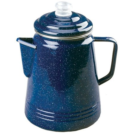 Coleman 14 Cup Enamelware Percolator Blue (Coleman Stainless Steel 12 Cup)