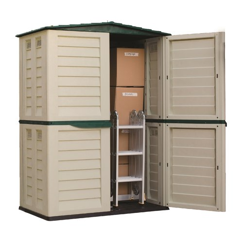 This button opens a dialog that displays additional images for this product with the option to zoom in or out.  sc 1 st  Walmart.com & Starplast Indoor/Outdoor Tall Garden Storage Shed - 5 x 2.75 ft ...