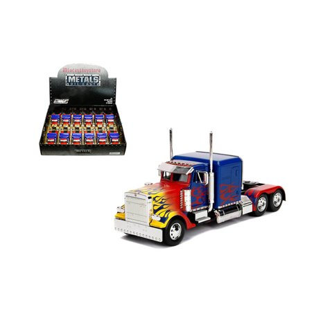 JADA 1:32 DISPLAY METALS - HOLLYWOOD RIDES - TRANSFORMERS - T1 OPTIMUS PRIME (BLUE/RED/YELLOW) 1 ITEM WITHOUT RETAIL BOX 30877-DP1 - Transformers Items