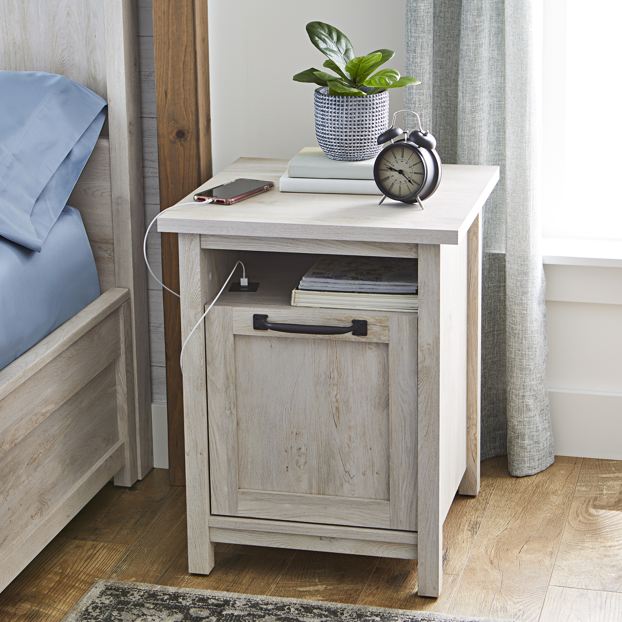 Better Homes Gardens Modern Farmhouse End Table Nightstand