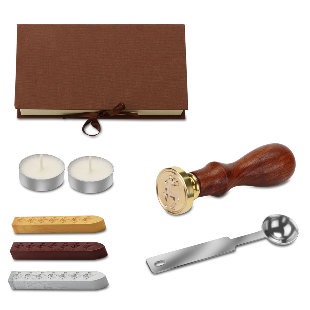 Retro Wax Seal Stamp Kit Wax Seal Stick Spoon Gift Box Set