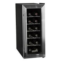 "Koldfront TWR121 Stainless Steel 10"" Wide 12 Bottle Wine Cooler"