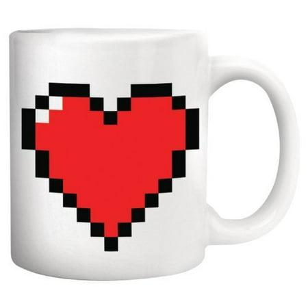 - OrangeTag Magic Morning Mug Coffee Tea Milk Hot Cold Heat Sensitive Color-changing Pixel Heart Morph