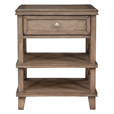 Alpine Furniture Potter Nightstand (French Truffle) Bedroom French Country Nightstand