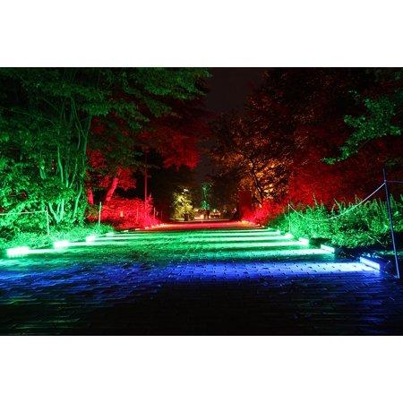 - LAMINATED POSTER Light Art At Night Away Illuminated Colorful Poster Print 24 x 36