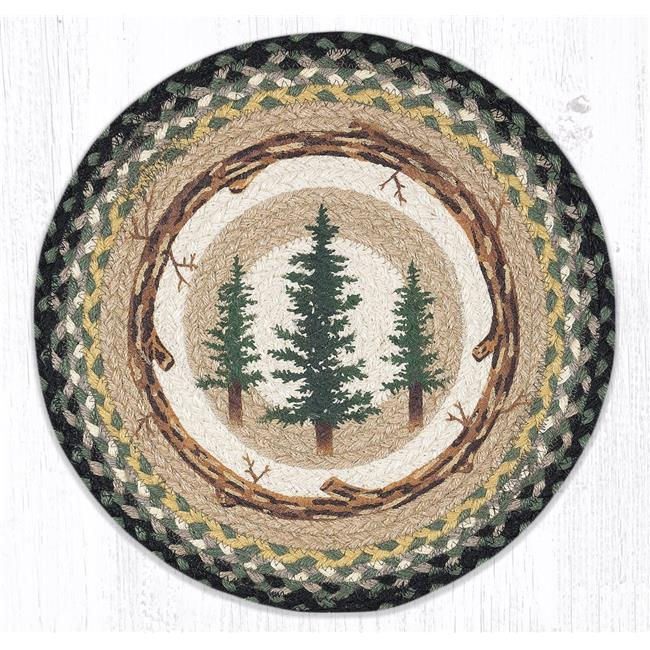 Capitol Importing 57-116TT 15 x 15 in. PM-RP-116 Tall Timbers Printed Round Placemat - image 1 of 1