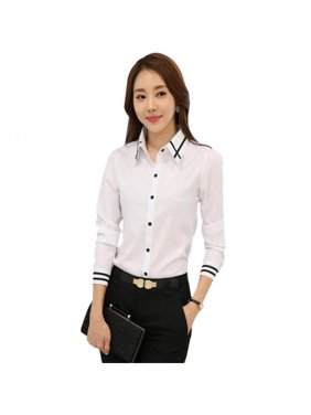 0e7d15fe5f4c88 Product Image Funcee Plus Size Women Long Sleeve Button Down Shirt Office  Lady Formal Blouse