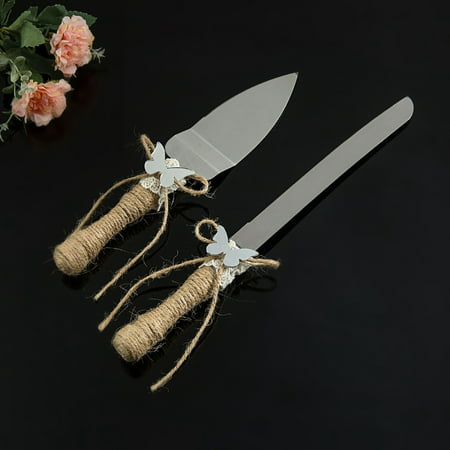 Rustic Wedding Cake Serving Set Bridal Cake Set Knife And Server Set- Gifts For Bride To Be - Cake Server Set