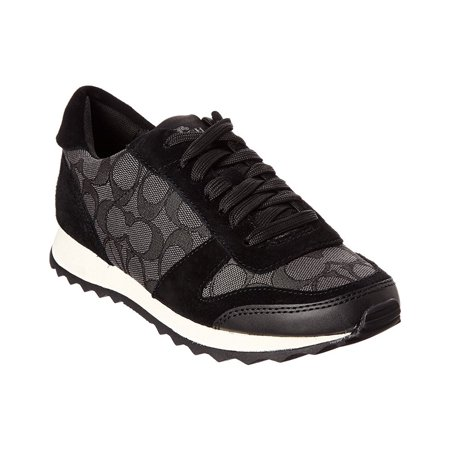 Coach Women's Mason Signature Canvas And Suede Black Smoke / Ankle-High Fashion Sneaker - 9.5M ()