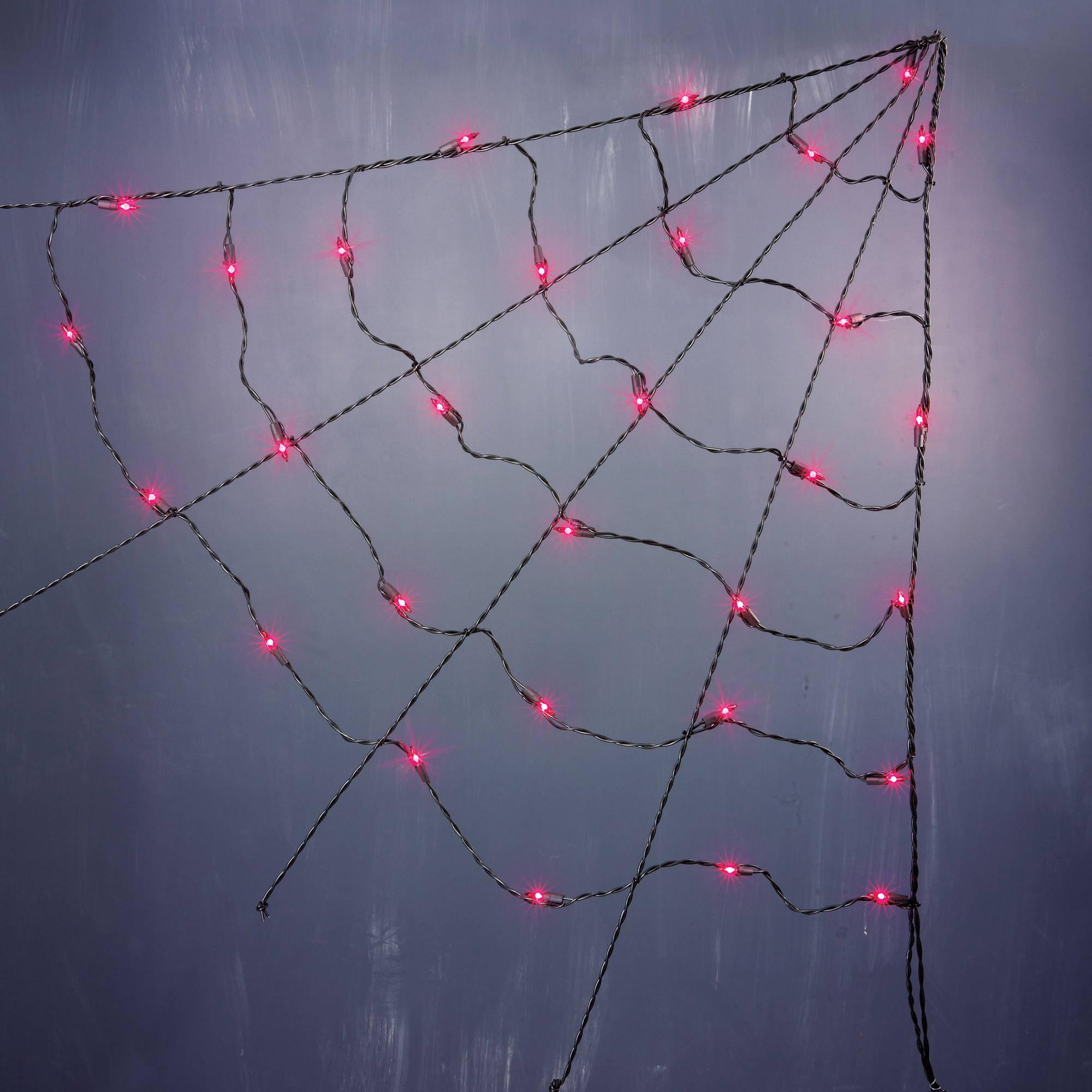 halloween 3 ul corner spider web lights purple 3 walmartcom