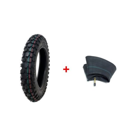 COMBO: Knobby Tire with Inner Tube 2.50 - 10 Front or Rear Trail Off Road Dirt Bike Motocross