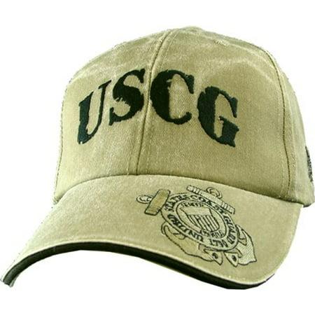 USCG Coast Guard Khaki Ball Cap