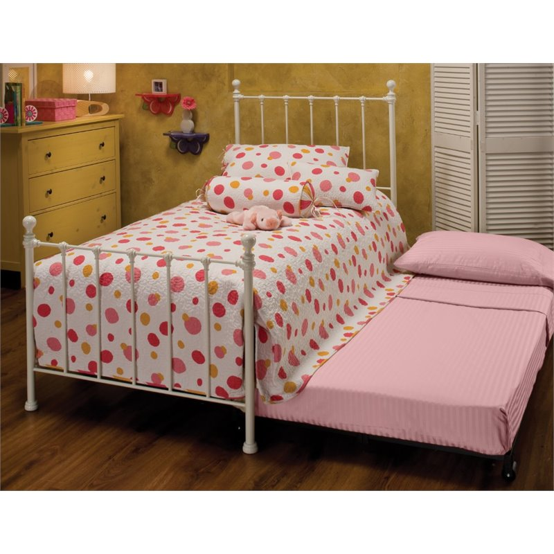 Hillsdale Molly Twin Poster Bed with Trundle in White