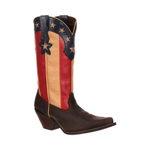 """Women's Durango Boot DRD0060 12"""" Stars and Stripes Crush"""