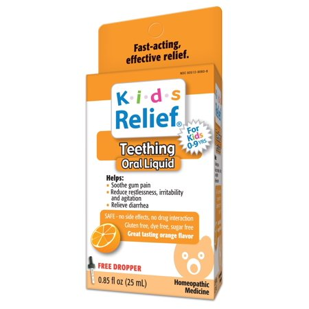 HomeoLab Kids Relief Teething Homeopathic Medicine, 0.85 Fl Oz