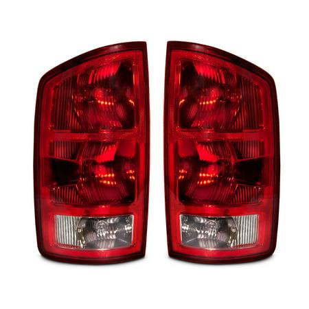 2002-2006 Dodge Ram 1500 Mega Cab/2500/3500 New Tail Lights Set CH2800147 and CH2801147